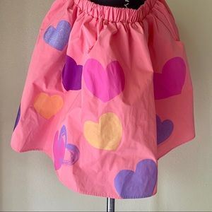 Hand Painted Unique Skirt Pink Sz 8